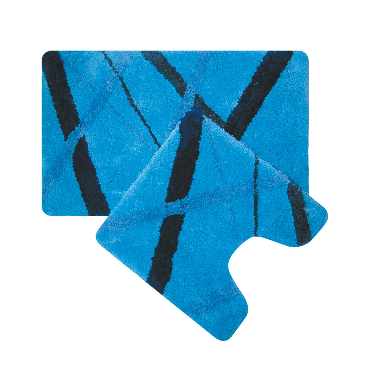 Набор ковриков для ванной Iddis Blue Rain, цвет: синий, 50 х 80 см, 50 х 50 см, 2 штMID160MSНабор ковриков для ванной комнаты и туалета Iddis выполнен из 100% полиэстера (микрофибра). Коврики имеют специальную латексную основу, благодаря которой они не скользят на напольных покрытиях в ванной, что обеспечивает безопасность во время использования. Коврики изготавливаются по специальным технологиям машинного ручного тафтинга, что гарантирует высокое качество и долговечность.Высота ворса: от 1,5 до 2,5 см.