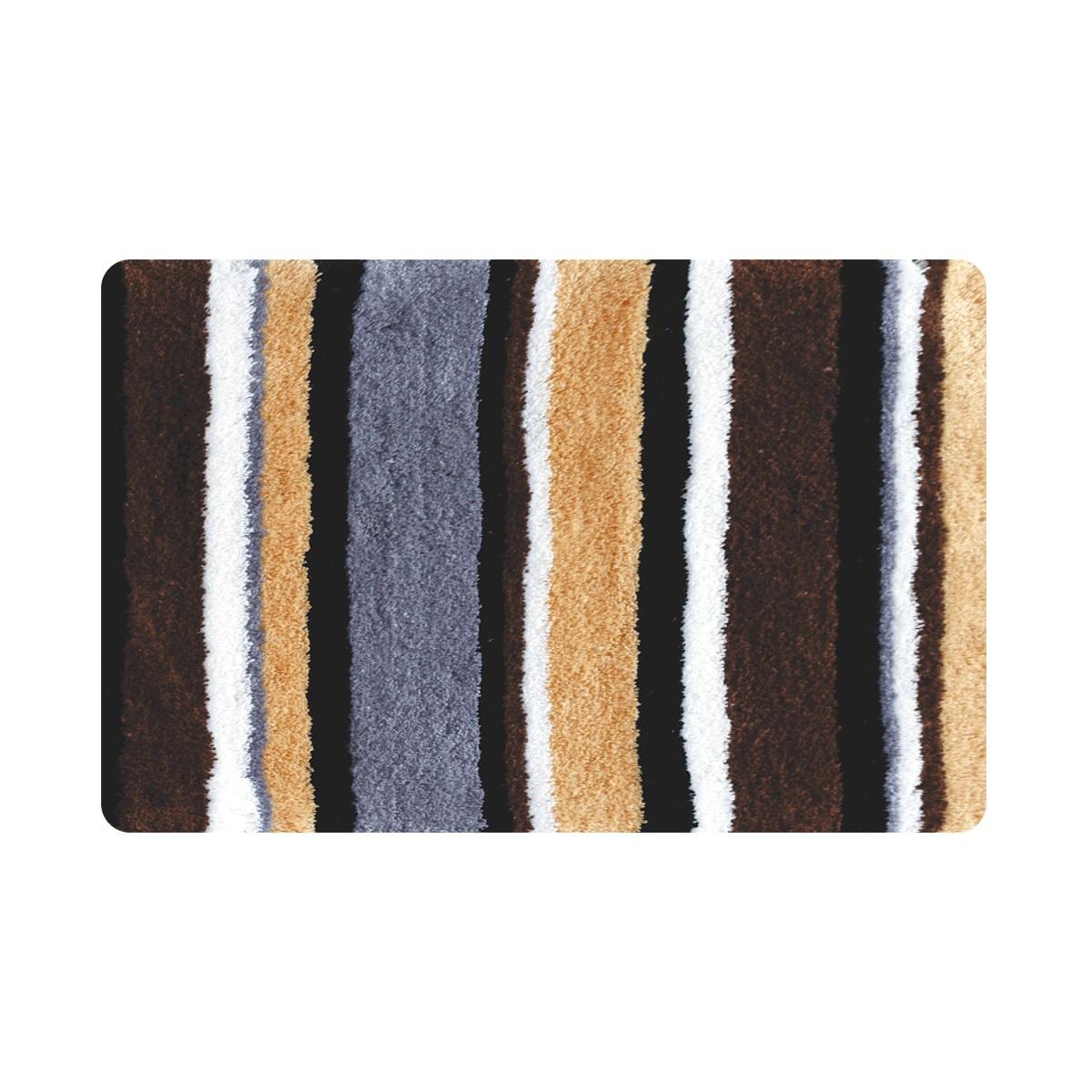 Коврик для ванной Iddis Catalonia fields, цвет: коричневый, 50 х 80 смMID198M100% Полиэстеровый тканный коврик для ванной комнаты на латексной основе. Высота ворса 2.5см