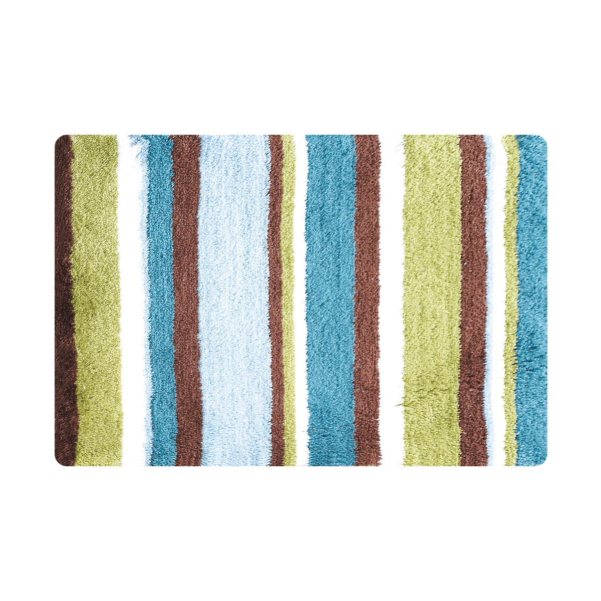 Коврик для ванной Iddis Raguza Fields, цвет: зеленый, 50 х 80 смMID199M100% Полиэстеровый тканный коврик для ванной комнаты на латексной основе. Высота ворса 2.5см