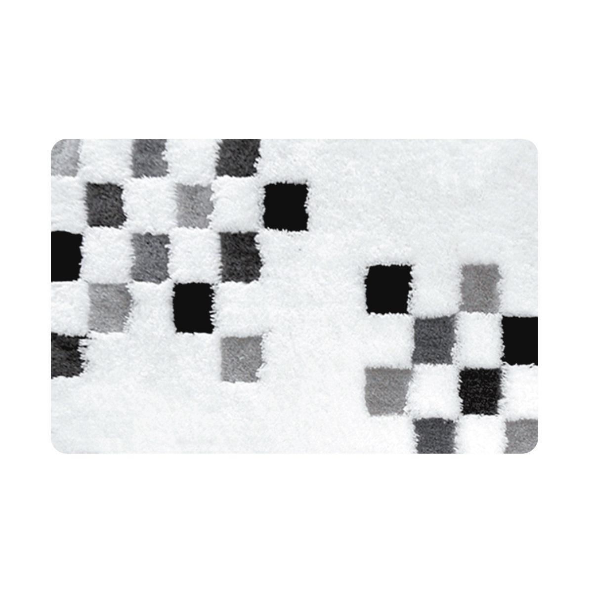 Коврик для ванной Iddis Grey chessboard, цвет: серо-белый, 60 х 90 смMID220AКоврик для ванной комнаты Iddis выполнен из акрила. Коврик имеет специальную латексную основу, благодаря которой он не скользит на напольных покрытия в ванной, что обеспечивает безопасность во время использования. Коврик изготавливается по специальным технологиям машинного ручного тафтинга, что гарантирует высокое качество и долговечность.Высота ворса: 2,5 см.