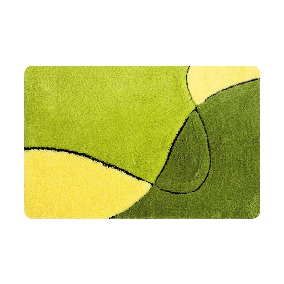 Коврик для ванной Iddis Sunny left, цвет: зеленый, 70 х 120 смMID250A100% Акриловый тканный коврик для ванной комнаты на латексной основе. Высота ворса 2.5см