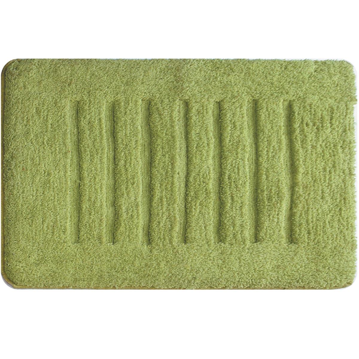 Коврик для ванной Milardo Green Lines, цвет: зеленый, 50 х 80 смMMI181MКоврик для ванной комнаты Milardo выполнен из микрофибры (100% полиэстер) на латексной основе. Коврик долго прослужит в вашем доме, добавляя тепло и уют, а также внесет неповторимый колорит в интерьер ванной комнаты.Высота ворса: 1 см.