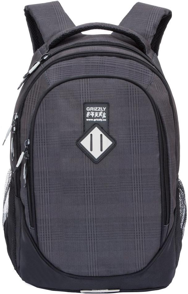 Рюкзак молодежный мужской Grizzly, цвет: серый, 17,5 л. RU-707-7/8 рюкзак мужской adidas bp cl adicolor цвет красный 27 л cw0636