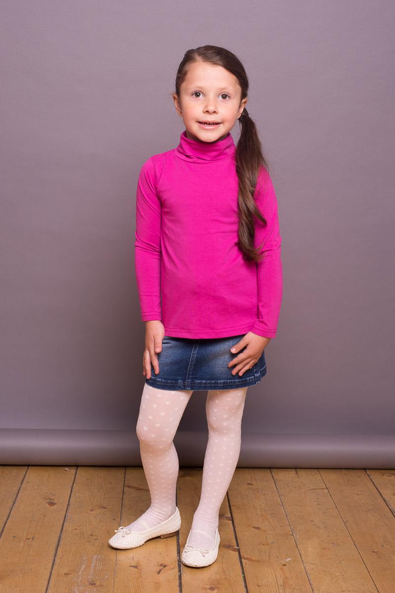 Водолазка для девочки Sweet Berry, цвет: фуксия. 734156. Размер 128734156Классическая хлопковая водолазка для девочки от Sweet Berry выполнена из трикотажной ткани. Модель с длинными рукавами и воротником-гольф.
