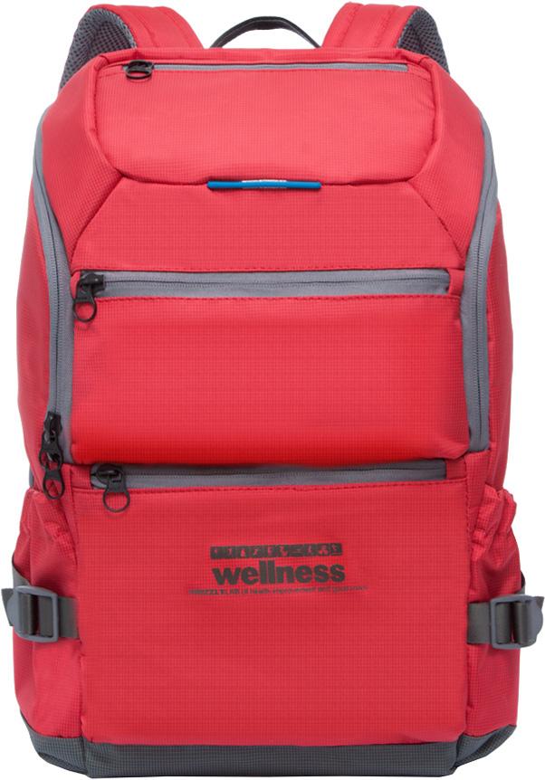 Рюкзак молодежный мужской Grizzly, цвет: красный, 18,5 л. RU-710-2/2 рюкзак мужской adidas bp cl adicolor цвет красный 27 л cw0636