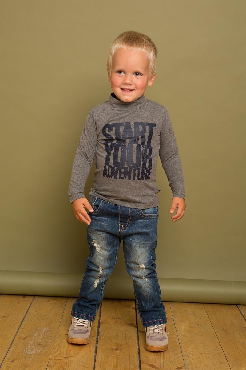 Водолазка для мальчика Sweet Berry Baby, цвет: серый. 731052. Размер 86731052Трикотажная водолазка Sweet Berry Baby для мальчика оформлена оригинальным принтом. Модель с воротником-стойкой и длинными рукавами.