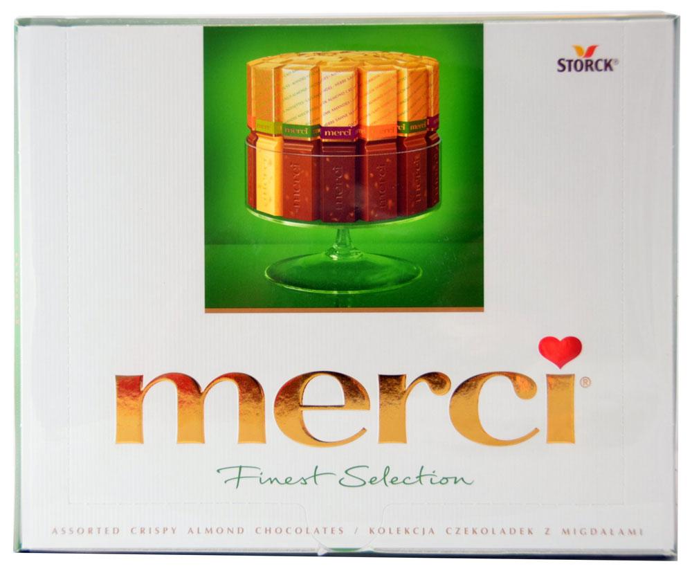 Merci Набор конфет Ассорти из шоколада с миндалем, 250 г merci юбка длиной 3 4