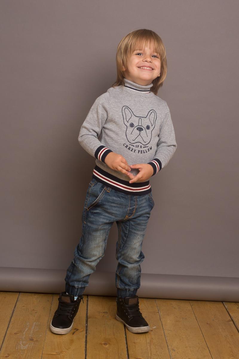 Водолазка для мальчика Sweet Berry Baby, цвет: серый. 731057. Размер 80