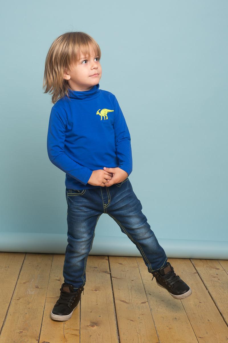 Водолазка для мальчика Sweet Berry Baby, цвет: синий. 731023. Размер 92731023Трикотажная водолазка для мальчика синего цвета декорированная оригинальным принтом. Воротник-стойка.