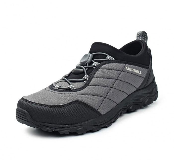 Ботинки мужские Merrell Ice Cap 4 Strech Moc, цвет: черный, голубой. 9633. Размер 10 (43.5)9633Мужские ботинки Merrell отлично подойдут для туризма. Модель, выполненная из высококачественных материалов, дополнена контрастной прострочкой и сбоку логотипом бренда. Модель быстро и легко шнуруется при помощи эластичного шнурка и пластикового фиксатора. Стелька из текстиля и подкладка из флиса обеспечивают надежную термоизоляцию. Подошва с рифлением обеспечивает отличное сцепление на любой поверхности. В таких ботинках вашим ногам будет уютно и комфортно.