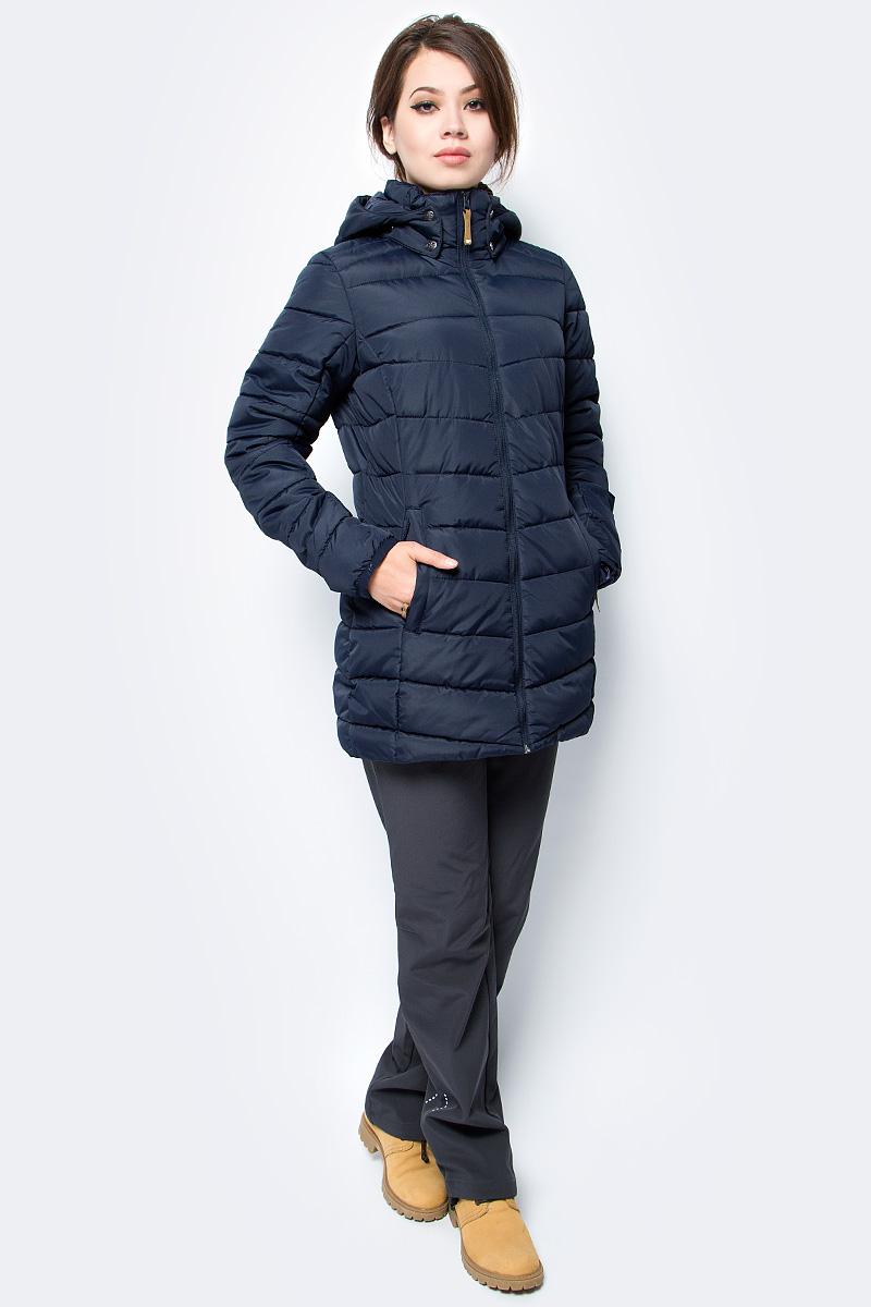 Куртка женская Icepeak, цвет: темно-синий. 853035520IV_390. Размер 34 (40)853035520IV_390Куртка женская Icepeak выполнена из полиэстера. Модель с длинными рукавами и капюшоном застегивается на застежку-молнию.