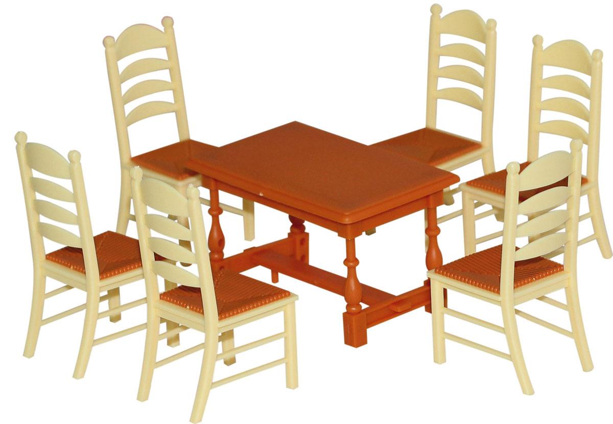 Полесье Набор мебели для кукол №6 цвет коричневый бежевый