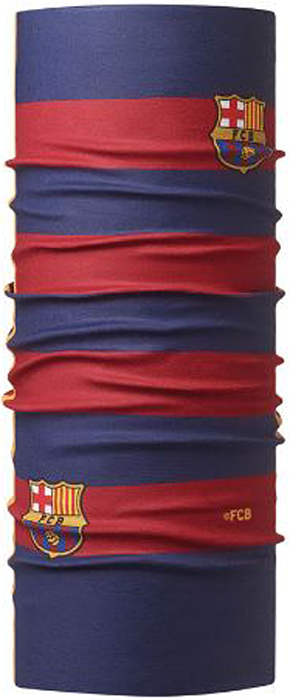 Бандана Buff Barcelona, цвет: красный, синий. 115145.555.10.00. Размер универсальный115145.555.10.00Бандана Buff Barcelona - это оригинальный, мультифункциональный, бесшовный головной убор - удобный и комфортный для любого вида активного отдыха и спорта. Оригинальный, потому что Buff был и является первым в мире брендом мультифункциональных, бесшовных и универсальных головных уборов. Мультифункциональный, потому что их можно носить самыми разными способами: как шарф, как шапку, как балаклаву, косынку, бандану, маску, напульсник и многими другими - решает Ваша фантазия! Универсальный головной убор, который можно носить более чем двенадцатью способами, который можно использовать при занятии любым видом спорта, езде на велосипеде и мотоцикле, катаясь или бегая на лыжах, и даже как аксессуар в городской одежде. Бесшовный, благодаря эластичности, позволяющей использовать эти головные уборы как угодно и не беспокоиться о том, что кожа может быть натерта или раздражена швами.