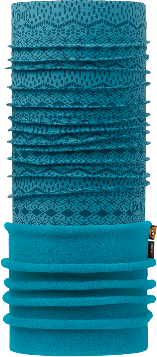 Бандана Buff Polar, цвет: бирюзовый. 113100.707.10.00. Размер универсальный113100.707.10.00Теплая бандана-шарф из серии Polar Buff®. Polar Buff® - это бандана-труба из серии Original Buff®, пришитая к цилиндру из Polartec® Classic Fleece 100 ®. В холодную погоду Polar Buff® поддерживает нормальную температуру тела и предотвращает потерю тепла, благодаря комбинации микрофибры и Polartec®. Благодаря своей универсальности, функциональности и практичности Polar Buff завоевал огромную популярность среди людей, ее можно использовать как шапку, шарф, бандану на лицо и уши, балаклаву, маску. Неотъемлемая часть зимней одежды, подходит для любой активности в холодное время года.