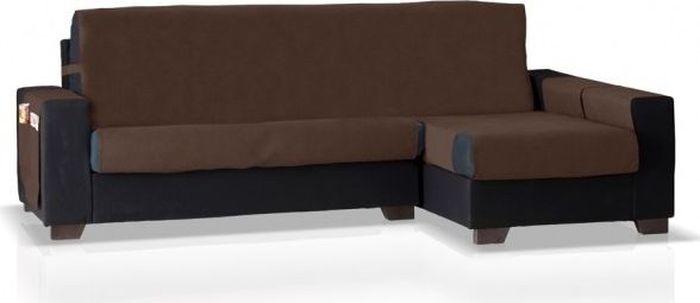 Накидка  угловой диван Медежда Иден, правый угол, цвет: шоколадный