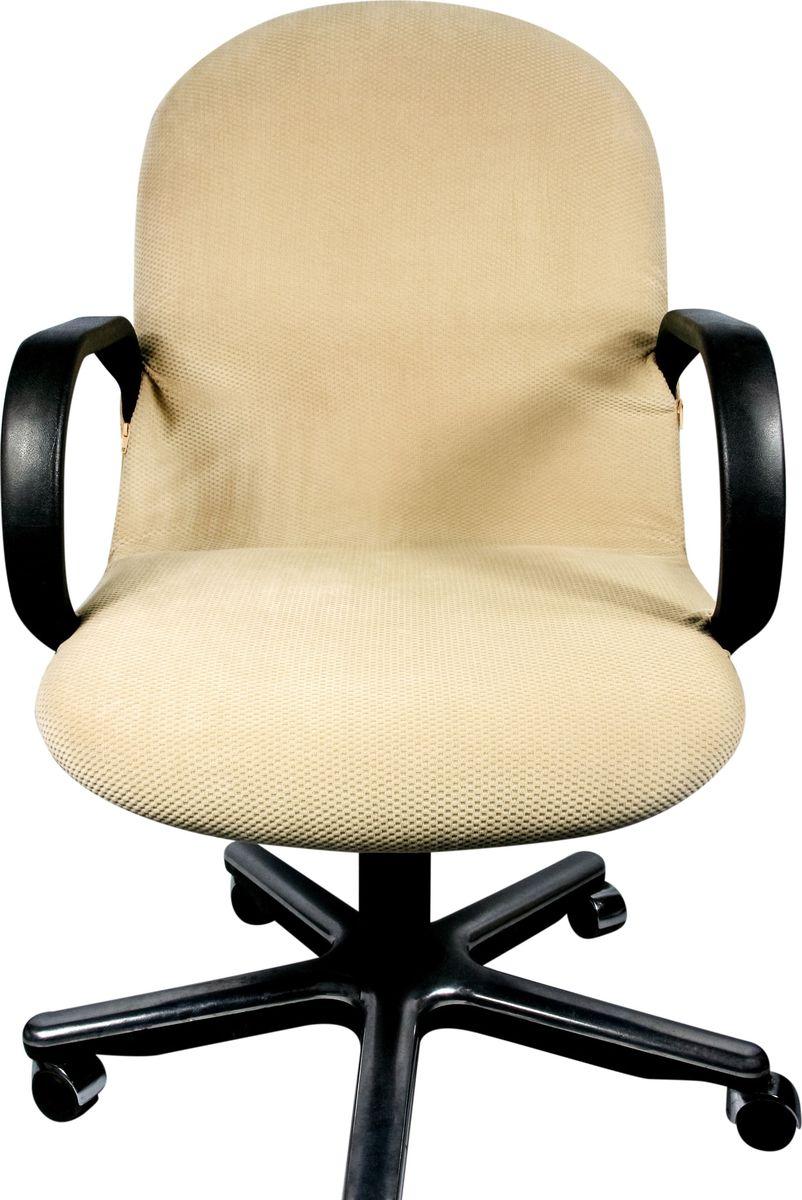 Чехол на компьютерное кресло Медежда Бирмингем, цвет: бежевый1410031103002Если обивка компьютерного кресла потерлась, испачкалась и нуждается в ремонте, то чехол будет лучшим решением. Он легко и быстро одевается, стирается в стиральной машине.