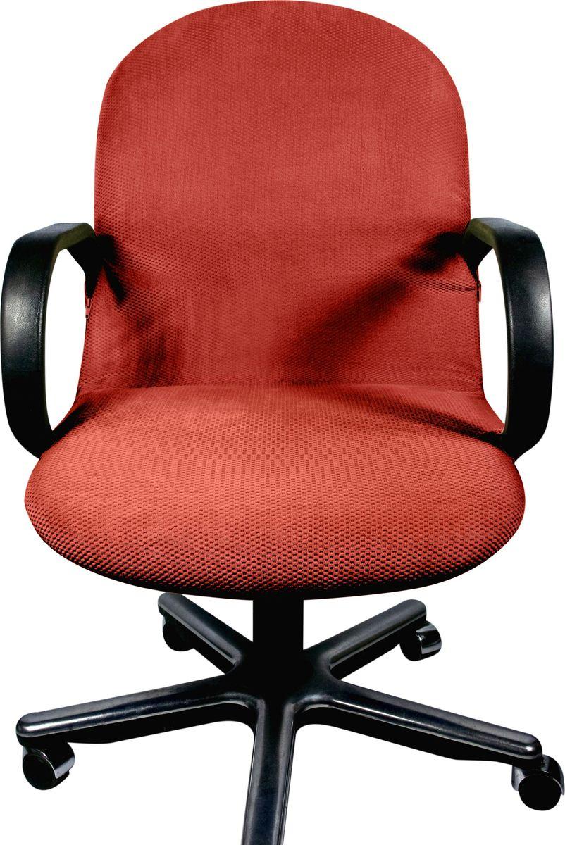 Чехол на компьютерное кресло Медежда Бирмингем, цвет: терракотовый1410031109002Если обивка компьютерного кресла потерлась, испачкалась и нуждается в ремонте, то чехол будет лучшим решением. Он легко и быстро одевается, стирается в стиральной машине.