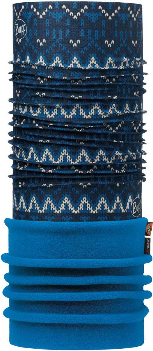 Бандана Buff Polar, цвет: синий, темно-синий. 113101.790.10.00. Размер универсальный113101.790.10.00Теплая бандана-шарф Buff Polar - это бандана-труба из серии Original Buff, пришитая к цилиндру из Polartec Classic Fleece 100. В холодную погоду Polar Buff поддерживает нормальную температуру тела и предотвращает потерю тепла, благодаря комбинации микрофибры и Polartec. Благодаря своей универсальности, функциональности и практичности Polar Buff завоевал огромную популярность среди людей, ее можно использовать как шапку, шарф, бандану на лицо и уши, балаклаву, маску. Неотъемлемая часть зимней одежды, подходит для любой активности в холодное время года.