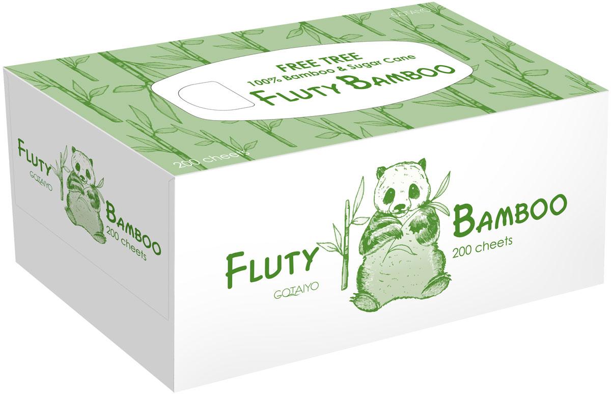 Полотенца бумажные Gotaiyo Fluty, двухслойные, цвет: белый, 200 шт20146gtДвухслойные бумажные салфетки Fluty- изготовлены из бамбуковой целлюлозы с добавлением волокон сахарного тростника- не содержат OBA (флуоресцентных осветлителей)- первичная обработка бумаги при температуре 450°С – гарантия гигиены