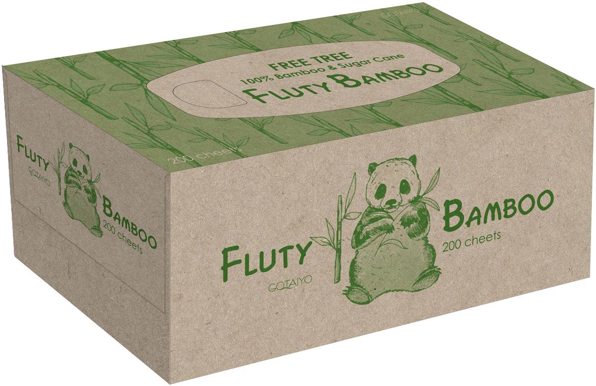 Полотенца бумажные Gotaiyo Fluty, двухслойные, цвет: коричневый, 200 шт20147gtДвухслойные бумажные салфетки Fluty- изготовлены из бамбуковой целлюлозы с добавлением волокон сахарного тростника- не содержат OBA (флуоресцентных осветлителей)- первичная обработка бумаги при температуре 450°С – гарантия гигиены