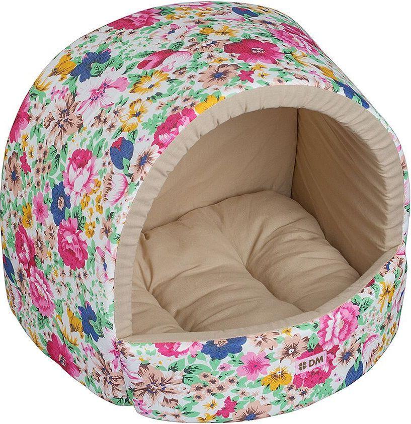 Домик для животных Dogmoda  Цветы , цвет: светло-зеленый. DM-160115 - Лежаки, домики, спальные места