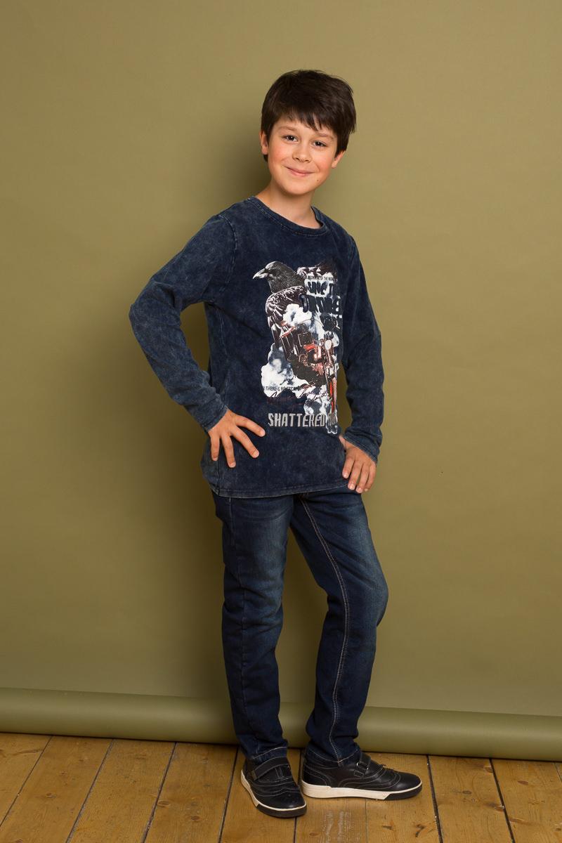 Джинсы для мальчика Luminoso, цвет: темно-синий. 737021. Размер 146737021Утепленные джинсовый брюки для мальчика на флисовой подкладке с оригинальной варкой. Прямой крой, средняя посадка. Застегиваются на молнию и пуговицу. Шлевки на поясе рассчитаны под ремень. В боковой части пояса находятся вшитые эластичные ленты, регулирующие посадку по талии.
