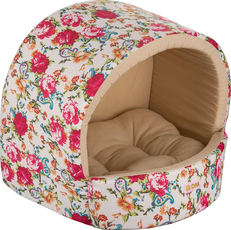 Домик для животных Dogmoda  Цветы , цвет: светло-бежевый. DM-160115