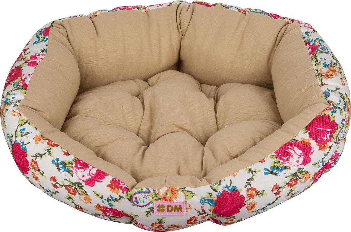 Лежак для животных Dogmoda  Цветы , цвет: светло-бежевый. DM-160114