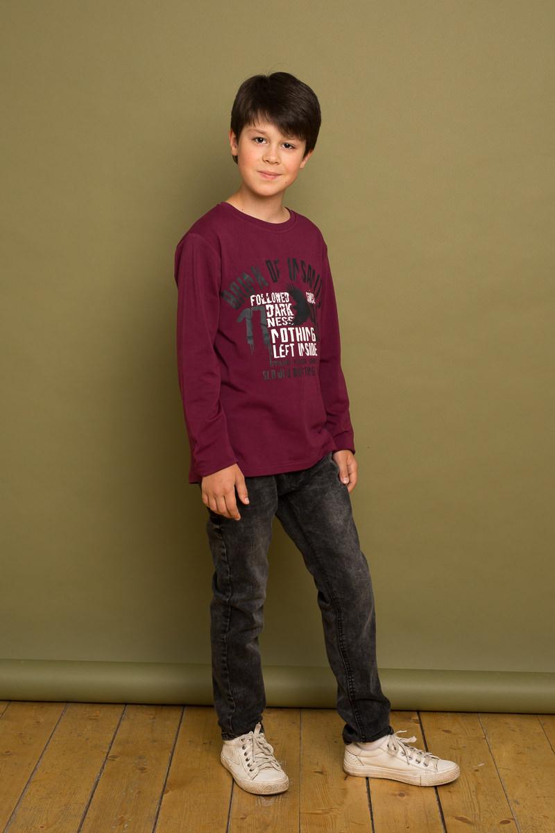 Джинсы для мальчика Luminoso, цвет: черный. 737017. Размер 134737017Модные, темно-серые джинсовые брюки для мальчка с оригинальной варкой. Прямой крой, средняя посадка. Застегиваются на молнию и пуговицу. Шлевки на поясе рассчитаны под ремень. В боковой части пояса находятся вшитые эластичные ленты, регулирующие посадку по талии.