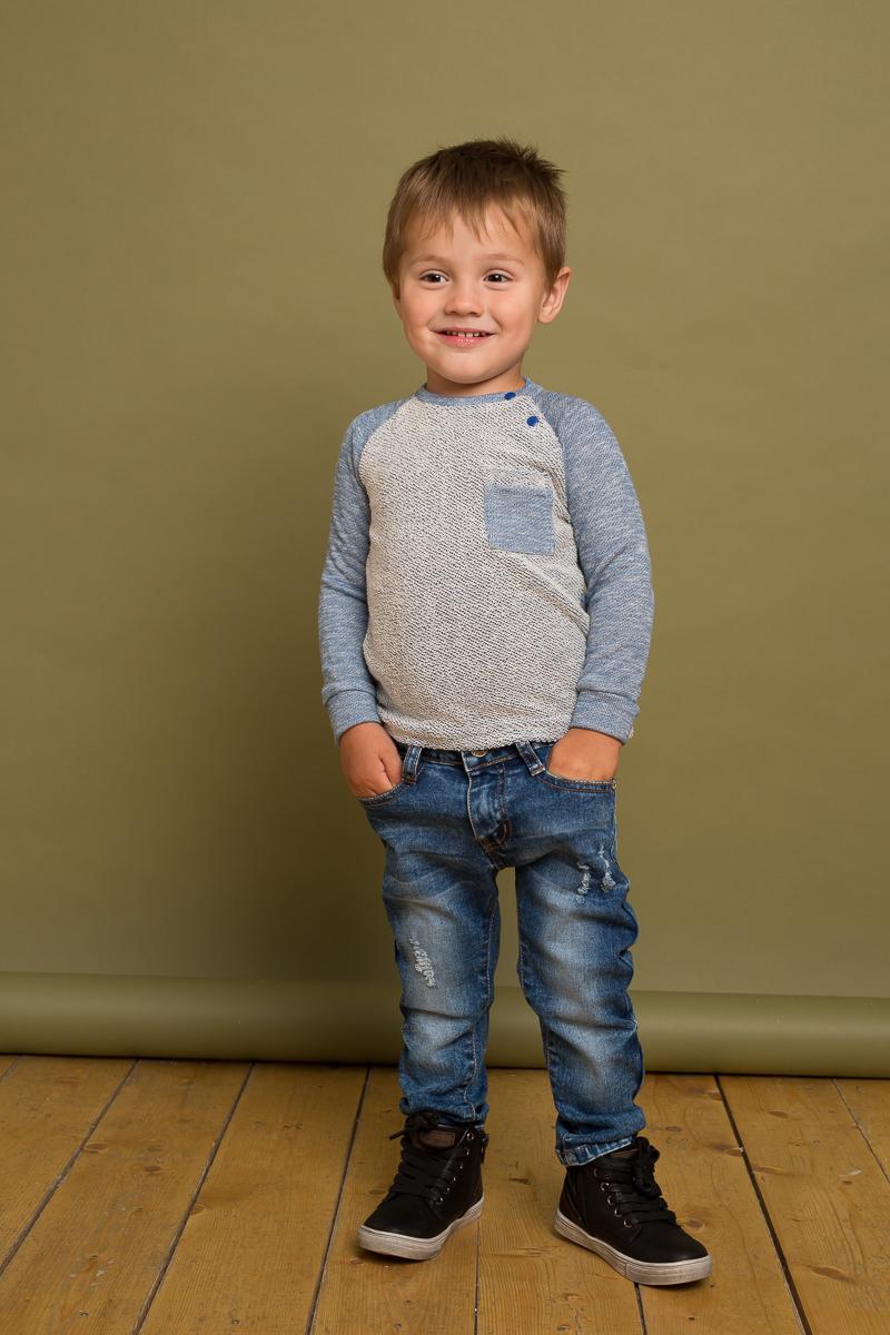 Джинсы для мальчика Sweet Berry Baby, цвет: темно-синий. 731050. Размер 98
