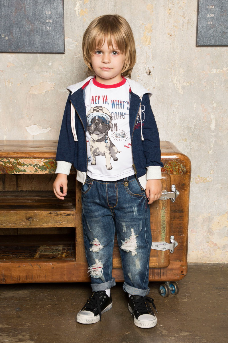 Джинсы для мальчика Sweet Berry Baby, цвет: темно-синий. 731067. Размер 80