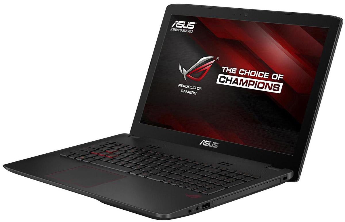ASUS ROG GL552VX (GL552VX-DM365T)GL552VX-DM365TМаксимальная скорость, оригинальный дизайн, великолепное изображение и возможность апгрейда конфигурации - встречайте геймерский ноутбук Asus ROG GL552VX.В компактном корпусе скрывается мощная конфигурация, включающая операционную систему процессор Intel Core и дискретную видеокарту NVIDIA GeForce. Ноутбук также оснащается интерфейсом USB 3.1 в виде удобного обратимого разъема Type-C.Клавиатура ноутбуков серии GL552 оптимизирована специально для геймеров, поэтому клавиши со стрелками расположены отдельно от остальных. Прочная и эргономичная, эта клавиатура оснащается подсветкой красного цвета, которая позволит с комфортом играть даже ночью.Для хранения файлов в GL552 имеется жесткий диск емкостью до 2 ТБ. Кроме того, в эту модель может устанавливаться опциональный твердотельный накопитель с интерфейсом M.2.Функция GameFirst III позволяет установить приоритет использования интернет-канала для разных приложений. Получив максимальный приоритет, онлайн-игры будут работать максимально быстро, без раздражающих лагов, и другие онлайн-приложения, имеющие низкий приоритет, не будут им в этом мешать.Asus ROG GL552VX оснащается 15,6-дюймовым IPS-дисплеем формата Full-HD, чье матовое покрытие минимизирует раздражающие блики, а широкие углы обзора (178°) являются залогом точной цветопередачи.Реализованная в модели GL552 аудиосистема с эксклюзивной технологией ASUS SonicMaster выдает великолепный звук, а программное обеспечение ROG AudioWizard позволяет быстро и легко подстраивать оттенки звучания под конкретную игру, активируя один из пяти предустановленных режимов.Точные характеристики зависят от модификации.Ноутбук сертифицирован EAC и имеет русифицированную клавиатуру и Руководство пользователя