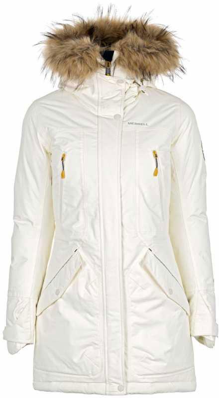 Куртка удлиненная женская Merrell Belgica, цвет: кремовый. A18AMRJAW07-01. Размер 52A18AMRJAW07-01Удлиненная женская куртка-парка пригодится в походах и во время активного отдыха на природе. ВОДОНЕПРОНИЦАЕМОСТЬПроклеенные швы защищают от промокания. СОХРАНЕНИЕ ТЕПЛА Утеплитель M Select WARM отлично греет. ДОПОЛНИТЕЛЬНАЯ ЗАЩИТА ОТ НЕПОГОДЫКапюшон и регулируемые манжеты для улучшенной защиты от холода. ПРАКТИЧНОСТЬ5 карманов позволят захватить с собой все необходимые мелочи. СВЕТООТРАЖАЮЩИЕ ЭЛЕМЕНТЫСветоотражатели сделают вас заметнее в темноте или в плохую погоду.