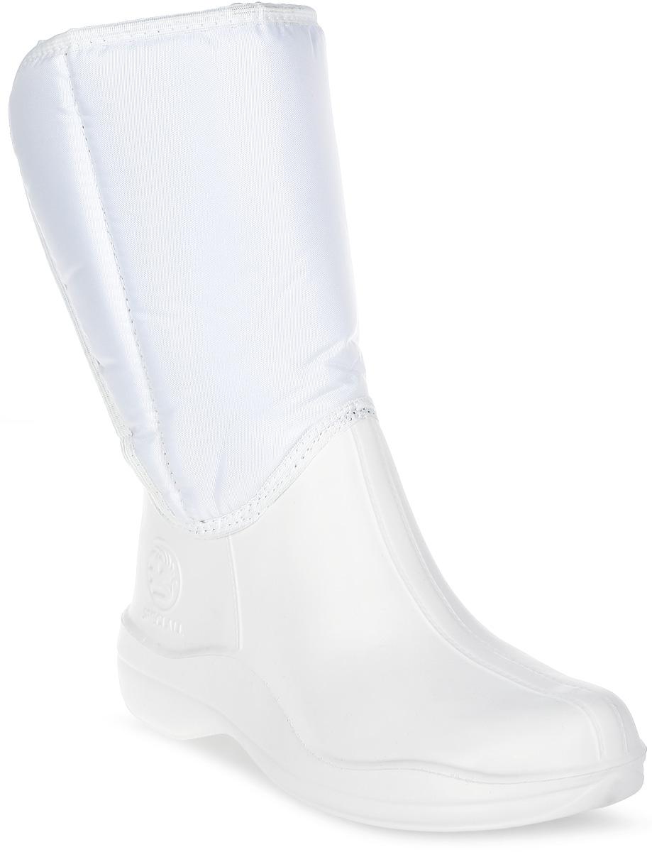 Сапоги резиновые женские Speci.All, цвет: белый. 318 УТЛ. Размер 37/38
