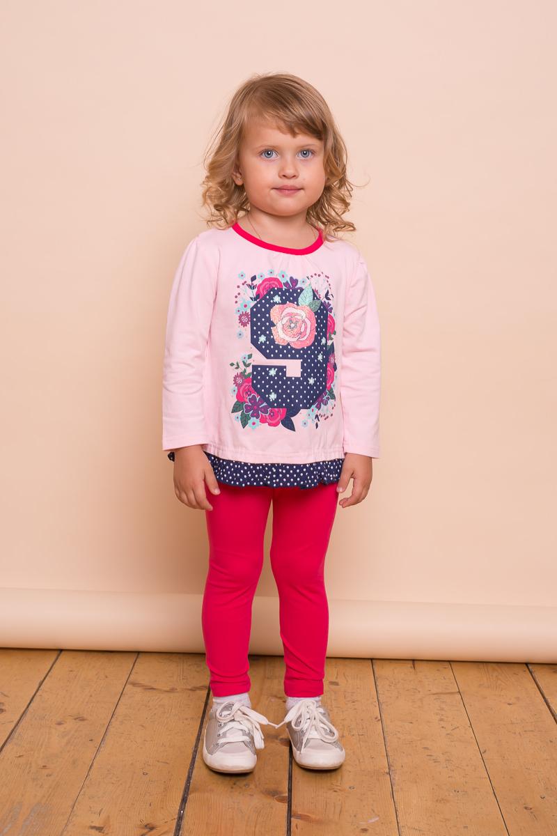 Леггинсы для девочки Sweet Berry Baby, цвет: фуксия. 732012. Размер 98732012Леггинсы для девочки Sweet Berry Baby изготовлены из эластичного хлопка. Модель прямого кроя с широкой эластичной резинкой на поясе.