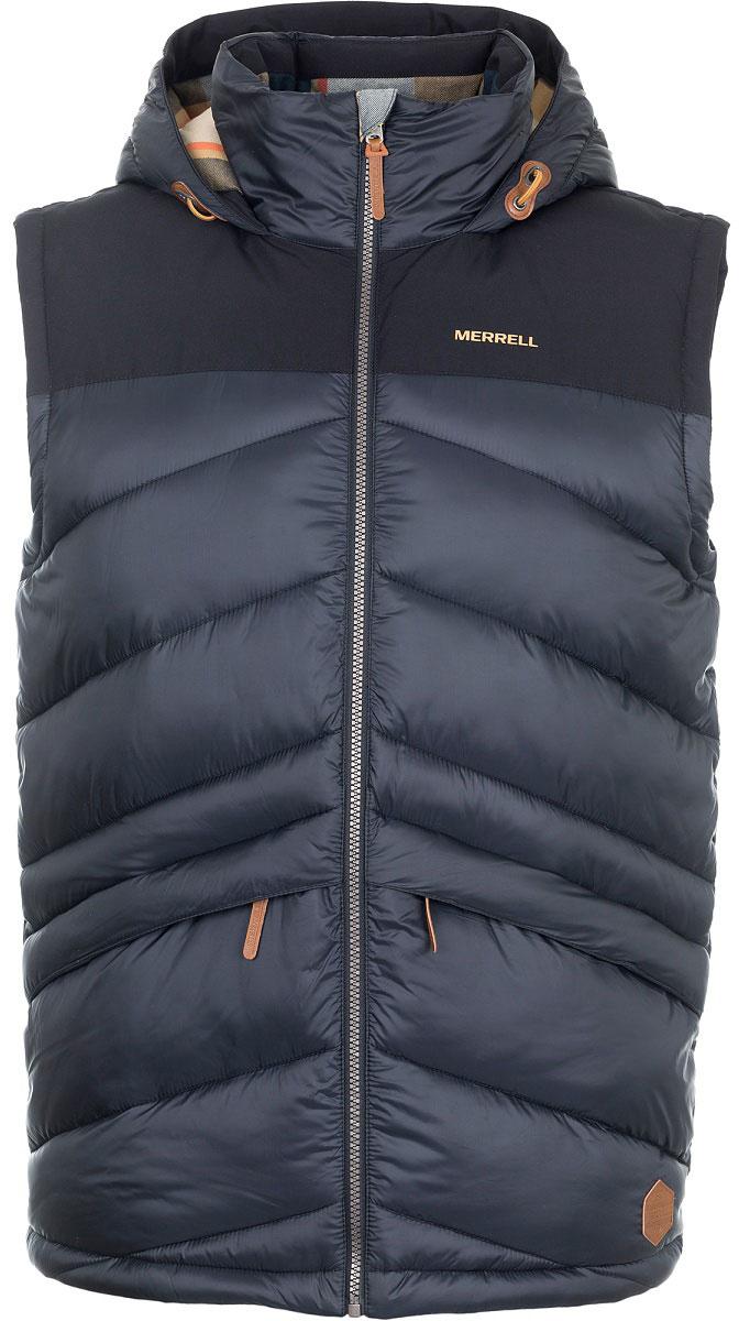 Жилет утепленный мужской Merrell Central, цвет: черный. A18AMRVEM01-99. Размер 50