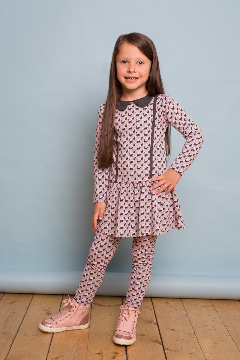 Леггинсы для девочки Sweet Berry, цвет: серый. 734048. Размер 104734048Удобные леггинсы для девочки от Sweet Berry выполнены из трикотажного полотна с оригинальным принтом. Мягкий, эластичный пояс.