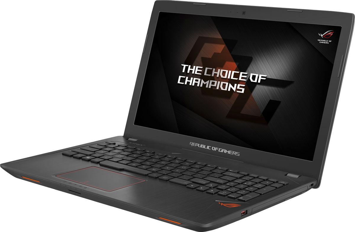ASUS ROG GL553VD (GL553VD-FY079)GL553VD-FY079Ноутбук Asus ROG GL553VD - это новейший процессор Intel и геймерская видеокарта NVIDIA GeForce GTX в компактном и легком корпусе. С этим мобильным компьютером вы сможете играть в любимые игры где угодно.В аппаратную конфигурацию ноутбука входит процессор Intel Core i7 седьмого поколения и дискретная видеокарта NVIDIA GeForce GTX 1050 с поддержкой Microsoft DirectX 12. Мощные компоненты обеспечивают высокую скорость в современных играх и тяжелых приложениях, например при редактировании видео.Данная модель оснащается 15,6-дюймовым IPS-дисплеем с широкими углами обзора (178°), разрешение которого составляет 1920x1080 пикселей (Full HD).В ноутбуке реализована высокоэффективная система охлаждения центрального и графического процессоров. Продуманное охлаждение - залог стабильной работы мобильного компьютера даже во время самых жарких виртуальных сражений.Интерфейс USB 3.1, реализованный в данном ноутбуке в виде обратимого разъема Type-C, обеспечивает пропускную способность на уровне 10 Гбит/с: передача 2-гигабайтного видеофайла займет лишь пару секунд!Asus ROG GL553VD оснащается оперативной памятью новейшего стандарта DDR4, которая обеспечивает повышенную скорость передачи данных и уменьшенное энергопотребление по сравнению с предыдущими стандартами.Ноутбук оснащается твердотельным накопителем, чья высокая скорость передачи данных позволит операционной системе, приложениям и игровым данным загружаться быстрее, а для хранения больших объемов можно воспользоваться традиционным жестким диском емкостью 1 ТБ.Клавиатура ноутбука оптимизирована специально для геймеров: ее клавиши сделаны на основе ножничного механизма, а знаменитая комбинация WASD выделена среди остальных.Микрофонный массив, реализованный в данном ноутбуке, обеспечит великолепное качество звука при голосовом общении с партнерами по онлайн-игре, а функция фильтрации шумов будет полезной на громкой LAN-вечеринке.Динамики встроенной аудиосистемы размещены таким образом, 