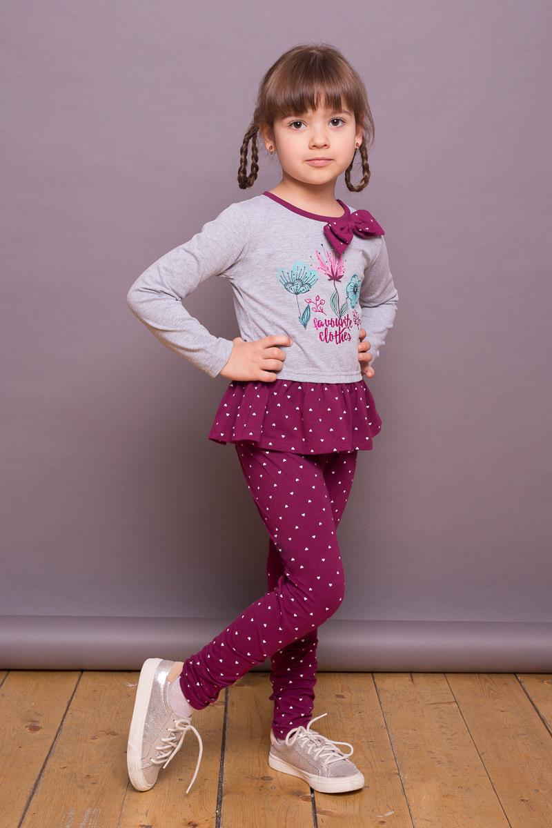 Леггинсы для девочки Sweet Berry, цвет: лиловый. 734017. Размер 122734017Удобные леггинсы для девочки от Sweet Berry выполнены из трикотажного полотна с оригинальным принтом. Мягкий, эластичный пояс.