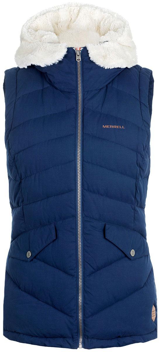 Куртка-жилет женский Merrell Dacia, цвет: синий. A18AMRVEW01-Z3. Размер 42A18AMRVEW01-Z3Женский жилет от Merrell станет отличным выбором для долгих прогулок и путешествий. СОХРАНЕНИЕ ТЕПЛАУтеплитель M Select WARMсохранит тепло тело благодаря прослойкам воздухаУтеплитель легок, прочен и устойчив к сжатию, а также не впитывает влагу. ТЕХНОЛОГИЧНЫЙ УТЕПЛИТЕЛЬТехно-пух - утеплитель из микро-волокна, который обеспечивает превосходную защиту от холода, оставаясь легким и влагоустойчивым. ДОПОЛНИТЕЛЬНАЯ ЗАЩИТА ОТ НЕПОГОДЫУтепленный капюшон и воротник-стойка послужат дополнительной защитой в период непогоды. ПРАКТИЧНОСТЬДва кармана для хранения мелочей.