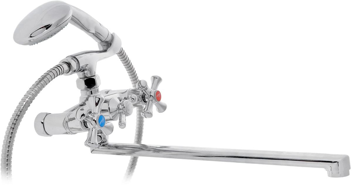 Смеситель для ванны Fauzt, с поворотным L-образным изливом. ИС.240111ИС.240111Смеситель для ванны Fauzt отвечает всем современным международным стандартам, отличается прекрасной эргономичностью в сочетании с интересным дизайном. Легкость и простота использования, качественные комплектующие являются ключевыми моментами концепции производства. Оригинальным новшеством смесителей является их оснащение аэратором, ограничивающим расход воды до 50% и формирующим бесшумную и мягкую струю воды. Пластиковая решетка аэратора не подвержена коррозии и устойчива к известковым отложениям. Смеситель снабжен длинным поворотным L-образным изливом. Керамические кранбуксы поворачиваются на 180° и имеют индикацию холодной/горячей воды. Душевой гарнитур в комплекте (массажная душевая лейка, металлический шланг, держатель для лейки на корпусе смесителя). Смеситель оснащен шаровым переключателем ванна/душ. Переключение ручное. Длина излива: 35 см. Диаметр душевой лейки: 8 см. Длина металлического шланга: 150 см.