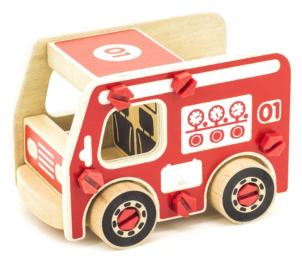 Игрушки из дерева Конструктор Пожарная машина машинки autotime машина bavaria gran turismo пожарная охрана