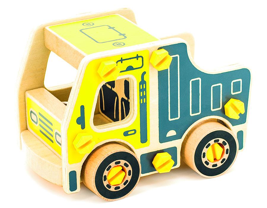 Игрушки из дерева Конструктор Самосвал конструкторы игрушки из дерева трамвай
