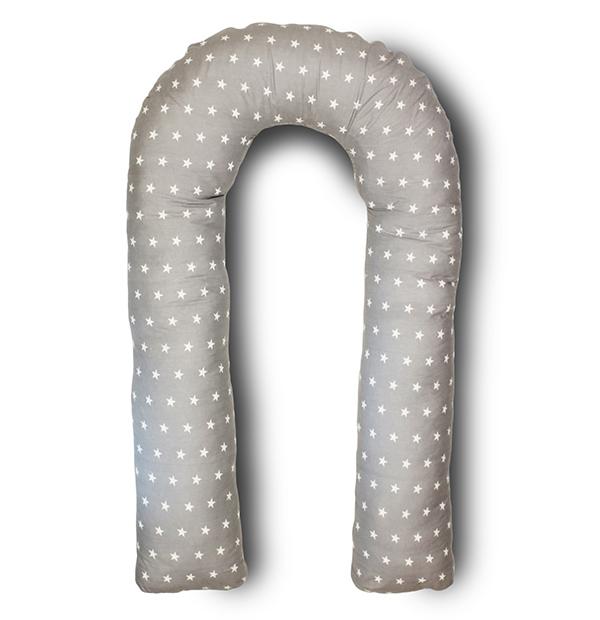 Body Pillow Подушка для беременных U-образная цвет серый белый - Подушки для беременных и кормящих