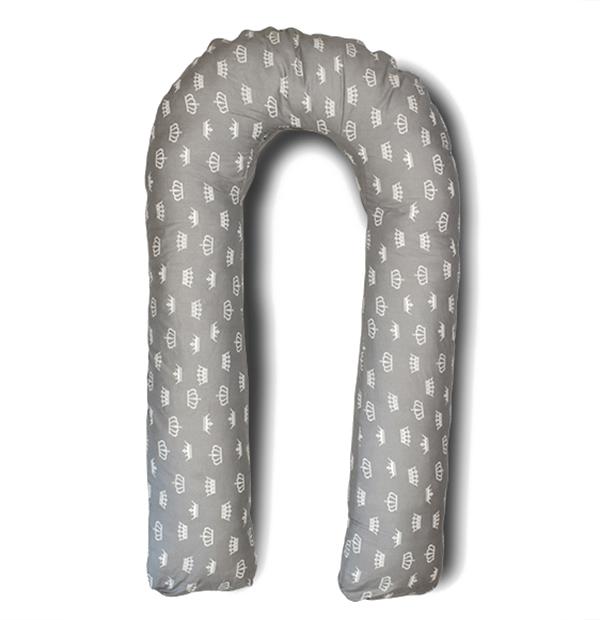 где купить Body Pillow Подушка для беременных U-образная цвет серый по лучшей цене