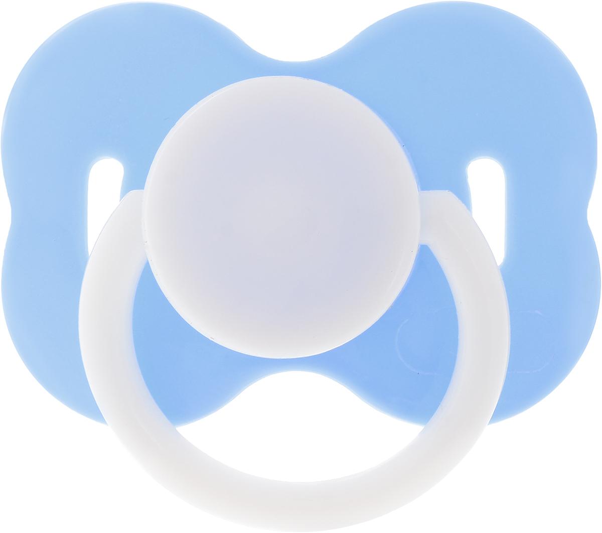 Lubby Пустышка силиконовая с колпачком от 0 месяцев цвет голубой -  Все для детского кормления