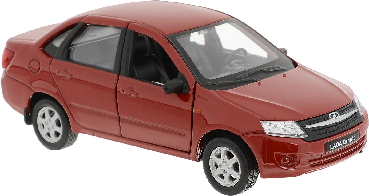 Welly Модель автомобиля LADA Granta цвет красный welly модель автомобиля audi r8 v10 цвет красный