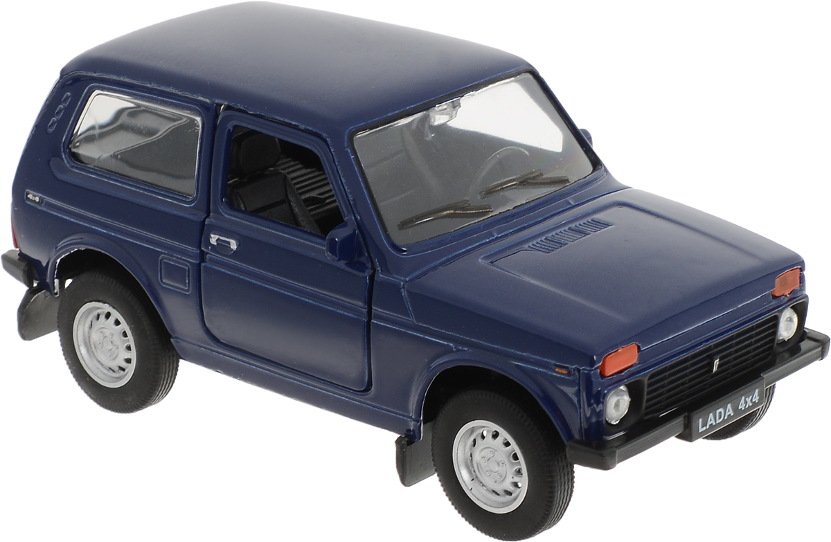Welly Модель автомобиля LADA 4x4 цвет синий welly модель автомобиля audi r8 v10 цвет красный