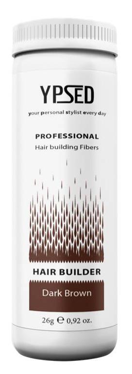 Камуфляж для волос Ypsed Professional Dark brown (темно-коричневый), 26 г157486Кератиновый камуфляж (загуститель) волос YPSED серия Professional (dark brown/темно-коричневый) – инновационный продукт в области загустителей волос и камуфляжа участков поредения. Доведенная до совершенства формула сохранила все преимущества предшественников. Высокотехнологичные кератиновые волокна, состоящие из натурального кератина, нарезанные и обработанные таким образом, что они незаметно смешиваются с волосами, визуально увеличивая густоту и объем. Принципиальные отличия: отсутствие комков, т.к. волокна созданы из высокотехнологичных соединений, отсутствует эффект грязных волос. Используя загуститель, достаточно просто превратить жидкие прядки в густую шевелюру. Средство отлично маскирует проплешины, рубцы на коже, редкие проборы, небольшие залысины. Продукт выпускается в разных оттенках, поэтому подобрать загуститель можно к любому натуральному цвету волос. Волосы обладают статическим электричеством, за счет этого волокна беспорядочно прилепляются к волосам, зрительно делая их гуще. Достаточно покрыть средством голову и через 10 секунд оценить результат: проблемных зон не будет видно. Плюсом сухого загустителя является то, что это очень быстрый и наипростейший способ скрыть дефект прически, средство можно взять с собой в поездку и пользоваться им в любых обстоятельствах. Волокна достаточно хорошо прикрепляются к волосам, но все же специалисты рекомендуют дополнительно применять фиксирующие средства (лак для волос), чтобы еще сильнее закрепить загуститель. Подходит для применения как мужчинам так и женщинам, помогает в любой ситуации выглядеть достойно и чувствовать себя уверенно. Рекомендованное количество для единоразового использования - 0,5гр. Упаковка - баночка с дозатором (мини-сито) 26гр.