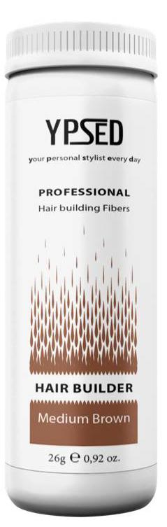 Камуфляж для волос Ypsed Professional Мedium brown (средне-коричневый), 26 г157493Кератиновый камуфляж (загуститель) волос YPSED серия Professional (medium brown/средне-коричневый) – инновационный продукт в области загустителей волос и камуфляжа участков поредения. Доведенная до совершенства формула сохранила все преимущества предшественников. Высокотехнологичные кератиновые волокна, состоящие из натурального кератина, нарезанные и обработанные таким образом, что они незаметно смешиваются с волосами, визуально увеличивая густоту и объем. Принципиальные отличия: отсутствие комков, т.к. волокна созданы из высокотехнологичных соединений, отсутствует эффект грязных волос. Используя загуститель, достаточно просто превратить жидкие прядки в густую шевелюру. Средство отлично маскирует проплешины, рубцы на коже, редкие проборы, небольшие залысины. Продукт выпускается в разных оттенках, поэтому подобрать загуститель можно к любому натуральному цвету волос. Волосы обладают статическим электричеством, за счет этого волокна беспорядочно прилепляются к волосам, зрительно делая их гуще. Достаточно покрыть средством голову и через 10 секунд оценить результат: проблемных зон не будет видно. Плюсом сухого загустителя является то, что это очень быстрый и наипростейший способ скрыть дефект прически, средство можно взять с собой в поездку и пользоваться им в любых обстоятельствах. Волокна достаточно хорошо прикрепляются к волосам, но все же специалисты рекомендуют дополнительно применять фиксирующие средства (лак для волос), чтобы еще сильнее закрепить загуститель. Подходит для применения как мужчинам так и женщинам, помогает в любой ситуации выглядеть достойно и чувствовать себя уверенно. Рекомендованное количество для единоразового использования - 0,5гр. Упаковка - баночка с дозатором (мини-сито) 26гр.